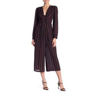 NWT Free Press Striped Cropped Jumpsuit